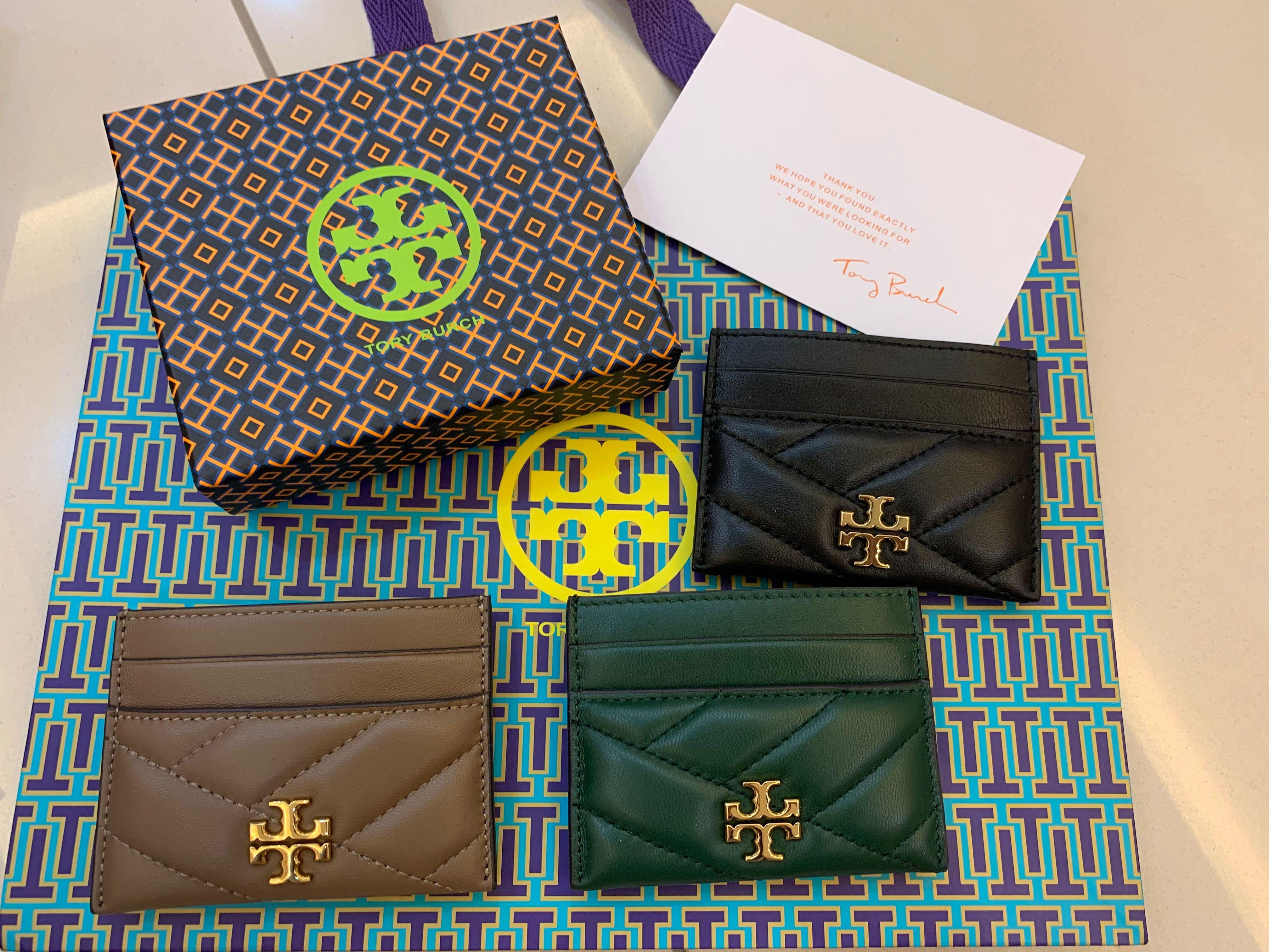 Ready Stock Authentic Tory Burch Kira Fleming material card holder calf leather ubb