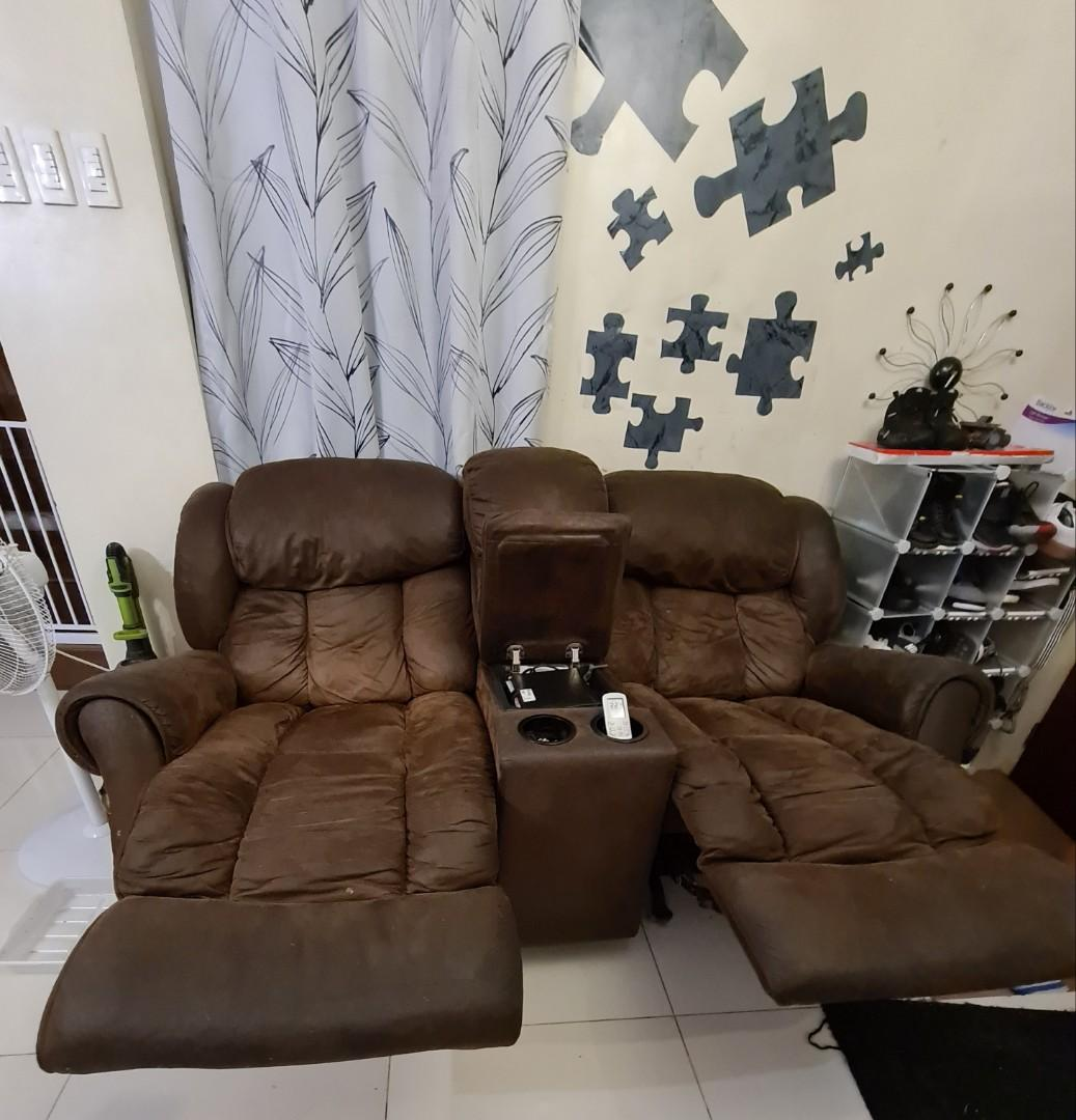 Recliner sofa 2 set for price of one like lazboy RUSH, Home