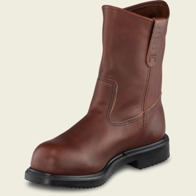 Red Wing Pecos Safety Boots Up For Sale