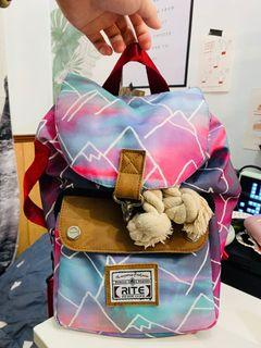 Rite 限量版水彩渲染背包+環保袋 兩用背包