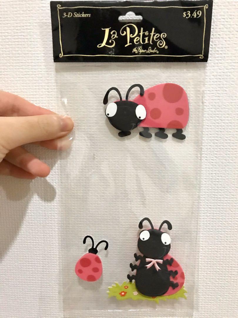 sticker lady bugs