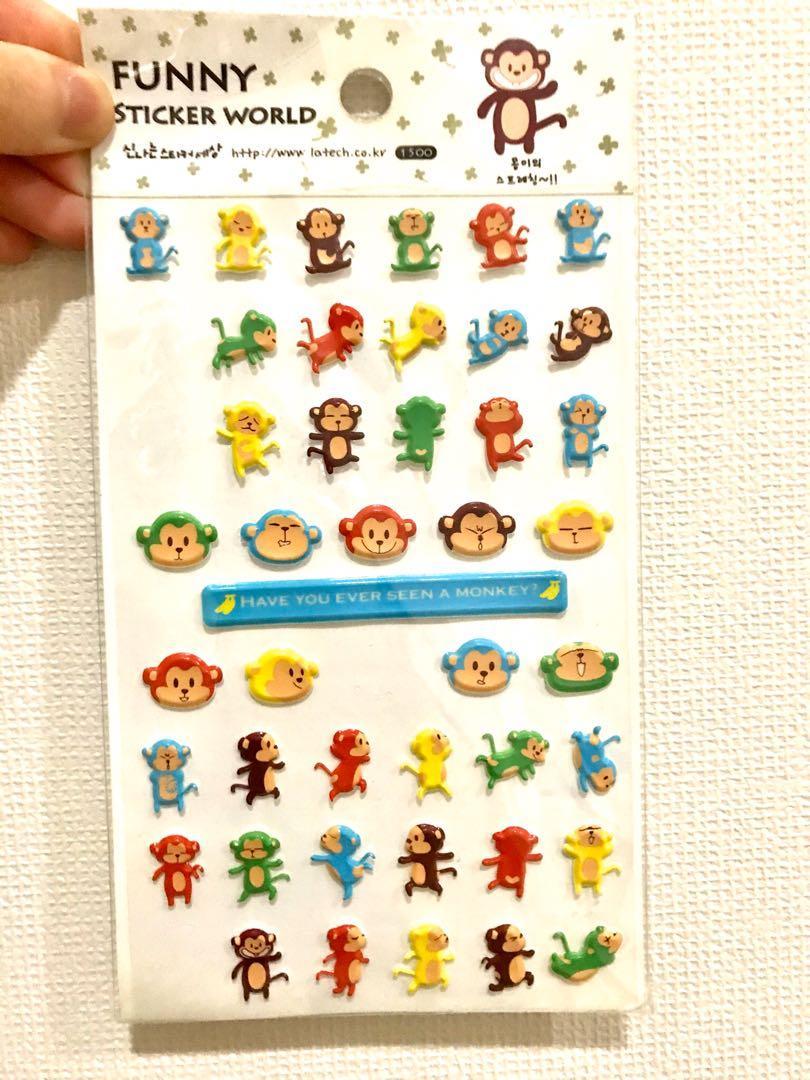 sticker monkey/ monyet