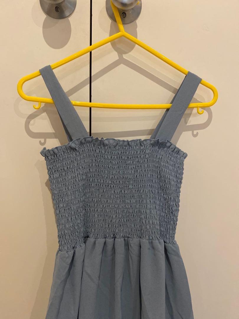Strapless dress- (blouse give away)