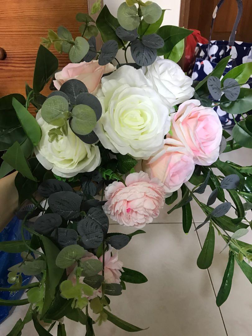 Wedding Artificial Flower Arrangement Gardening Flowers Bouquets On Carousell