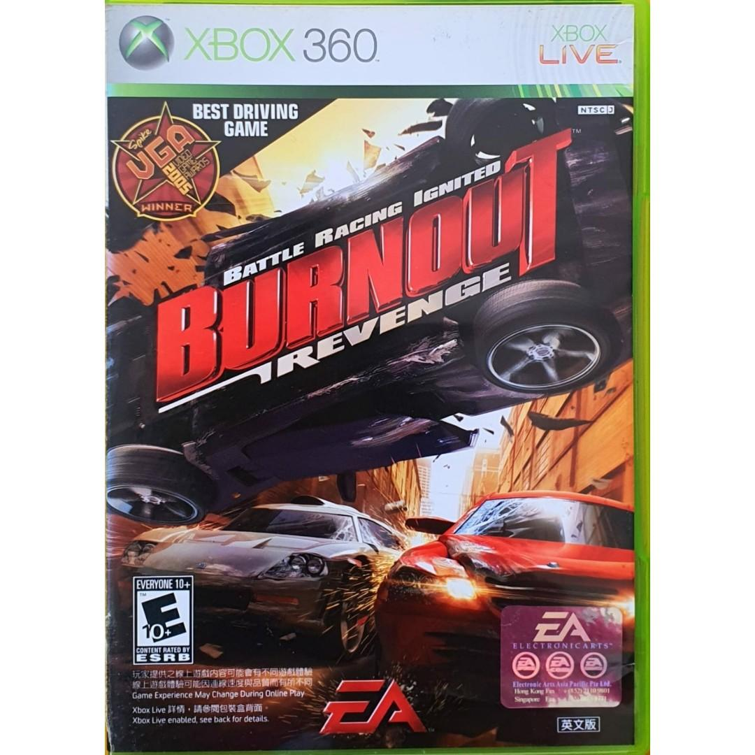 Xbox 360 Burnout Revenge Racing Driving Car Game Toys Games Video Gaming Video Games On Carousell