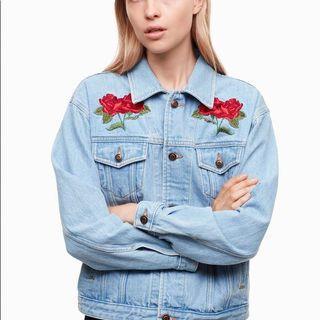 Aritzia TNA Roses Jean Jacket