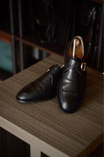 Bally Single Monkstrap Leather Shoes