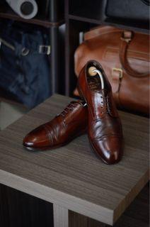 Carmina Cap Toe Derby Leather Shoes