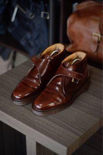 Doc Martens Single Monkstrap Midcut Boots Leather Shoes