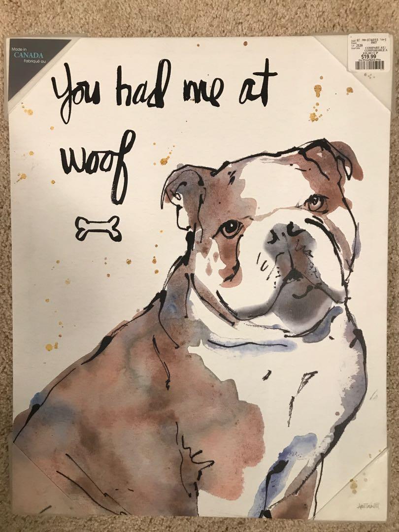 Dog picture decor