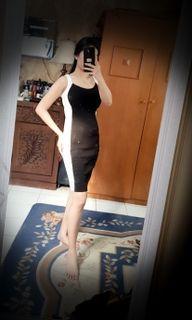 Dress rajut hitam putih