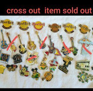 Hard Rock pins & disney pins