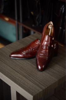 Mr. Collection Double Monkstrap Leather Shoes