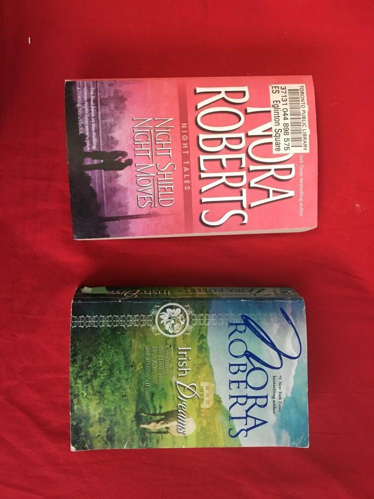 Nora Roberts books; night tales and Irish dreams