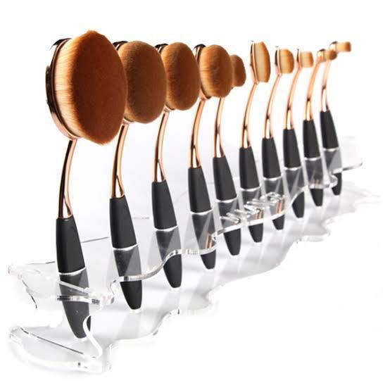 Oval Brush Set and Holder