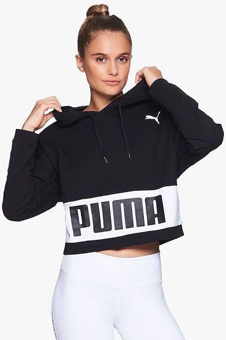 Puma crop training hoodie