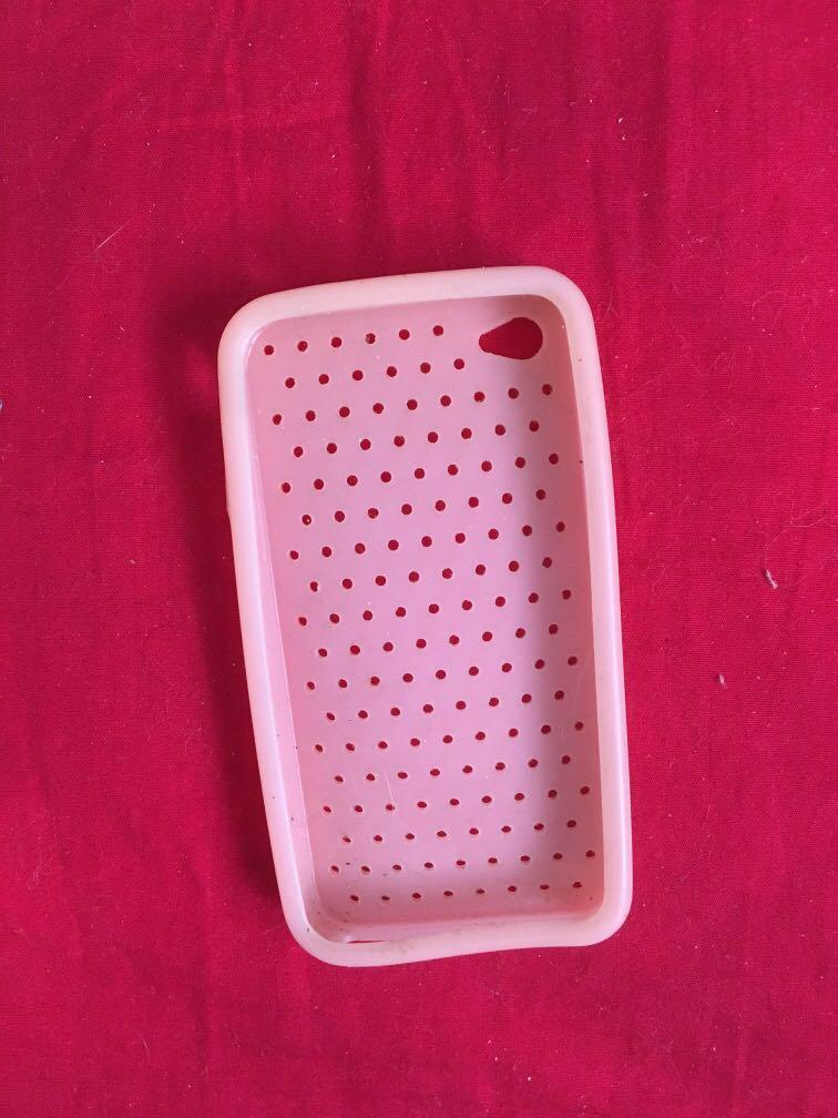 Silicone pink iPhone case