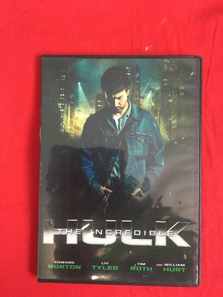 The Incredible Hulk movie DVD