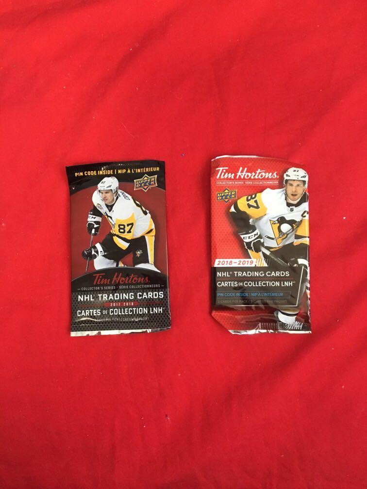 Tim Hortons NHL upper deck trading  sports cards