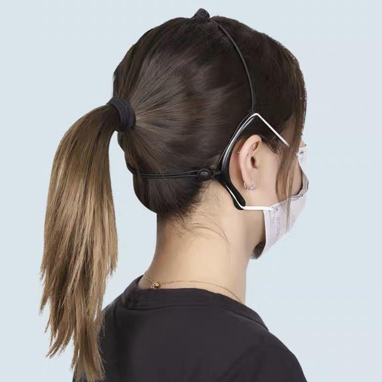 4 4 Pcs length Ear Cord Extension Buckle Adjustable Disposable Face Mask Button Strap Accessories Hook Buckle for Masks Relieve Pain for Men Women Kids