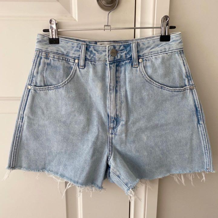 Wrangler Hi Bells Denim Shorts