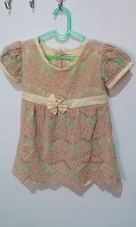 Dress Brukat Anak usia 6-12month