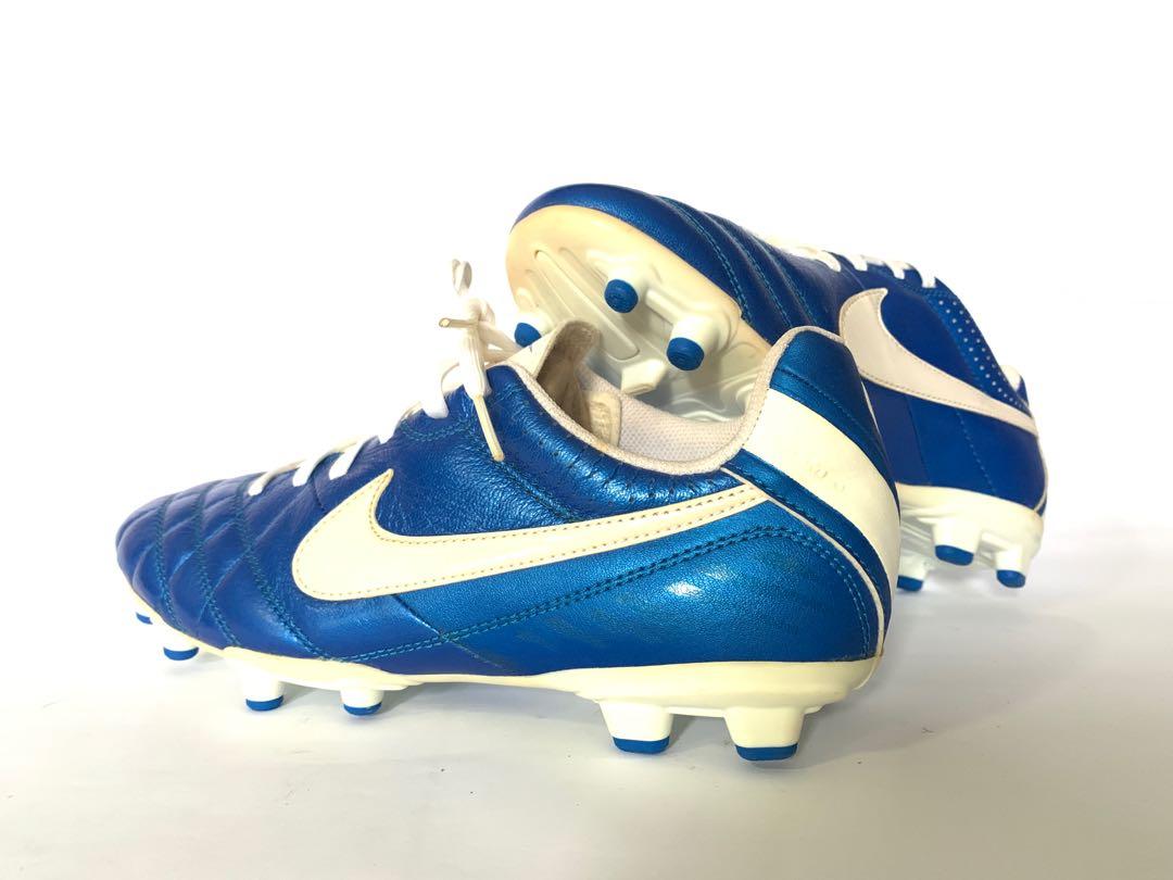 Nike Tiempo Blue \u0026 White Soccer Cleats