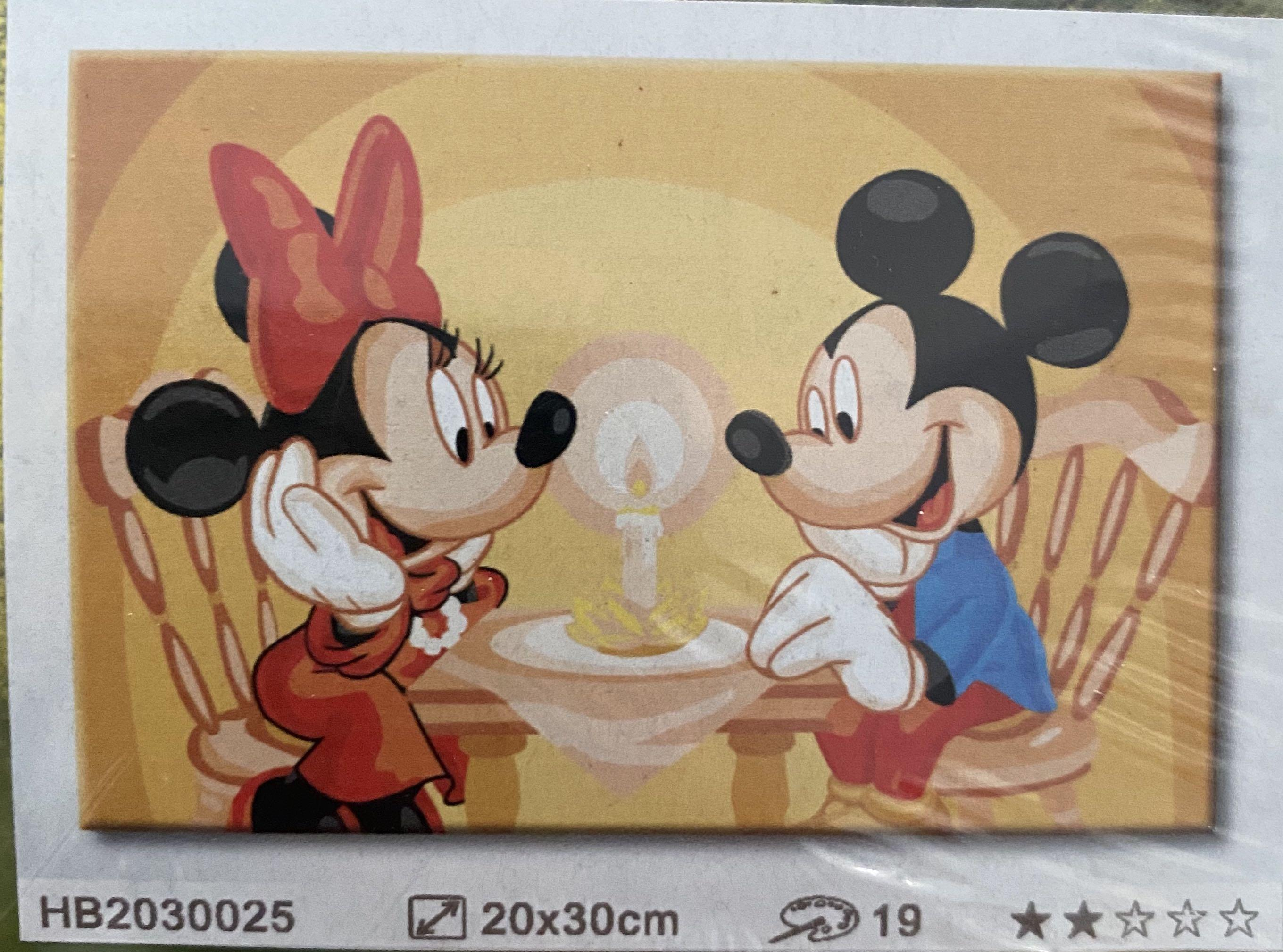 Paint By Number Mickey Minnie Mouse Design Craft Art Prints On Carousell