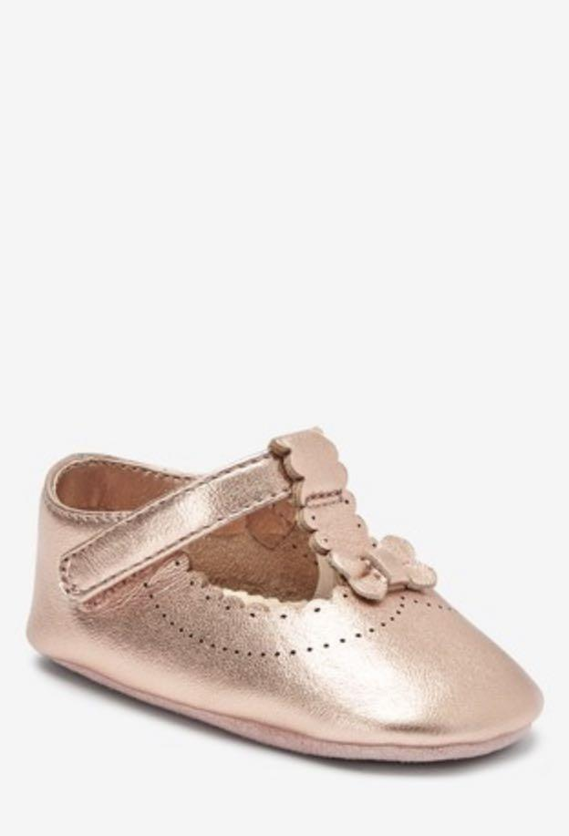baby rose gold shoes