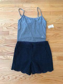 Rw and co shorts size 0, tank top cami size s