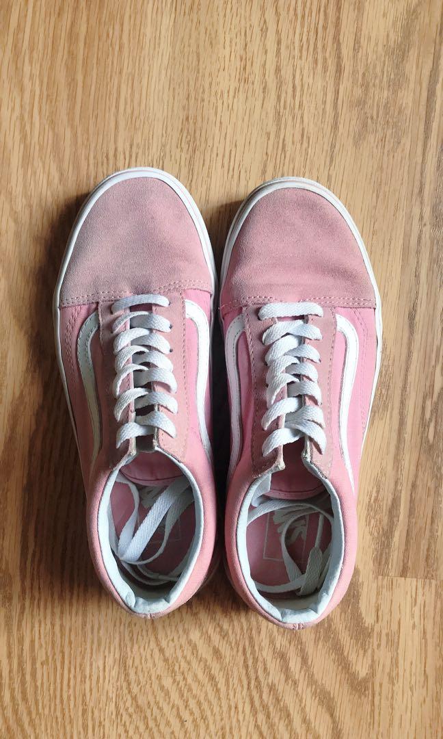 Used) Vans old skool vintage pink 粉紅