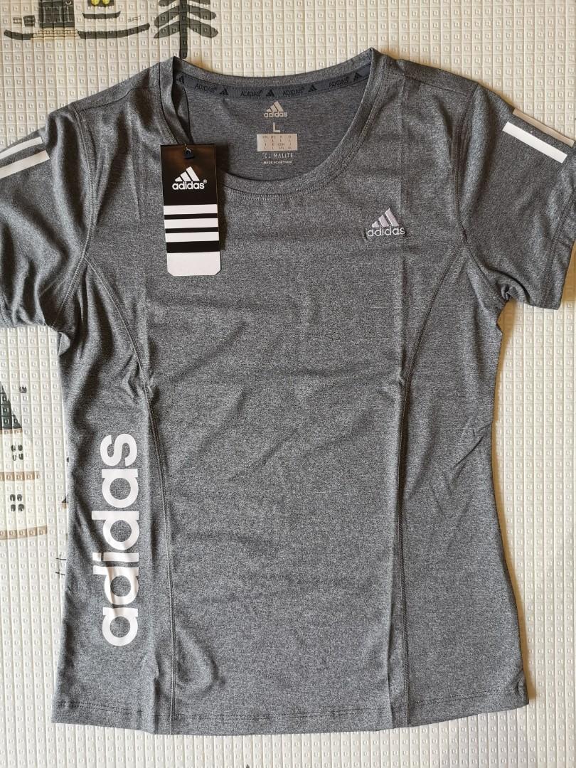 Women's Adidas dri-fit shirt grey, Sports, Sports Apparel on ...