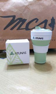 摺疊咖啡杯 環保杯  抹茶綠 450ml  限定版 歐都納摺疊飲品杯