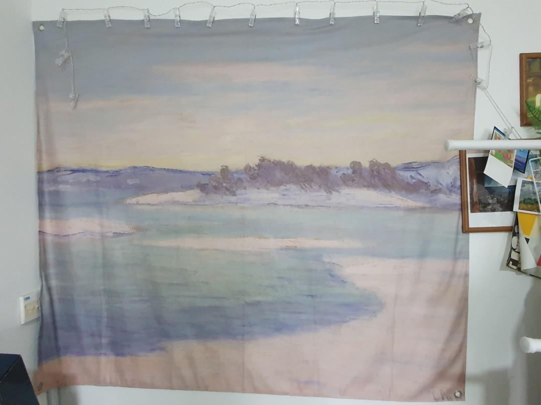 Big Tapestry Monet S Painting Velvet Furniture Home Decor Others On Carousell