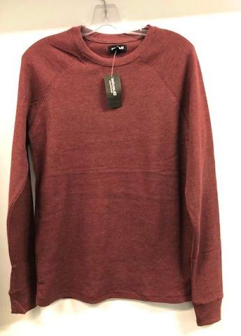 Bluenotes 98% Cotton Basic Long Sleeve Top, Burgundy (Size M)