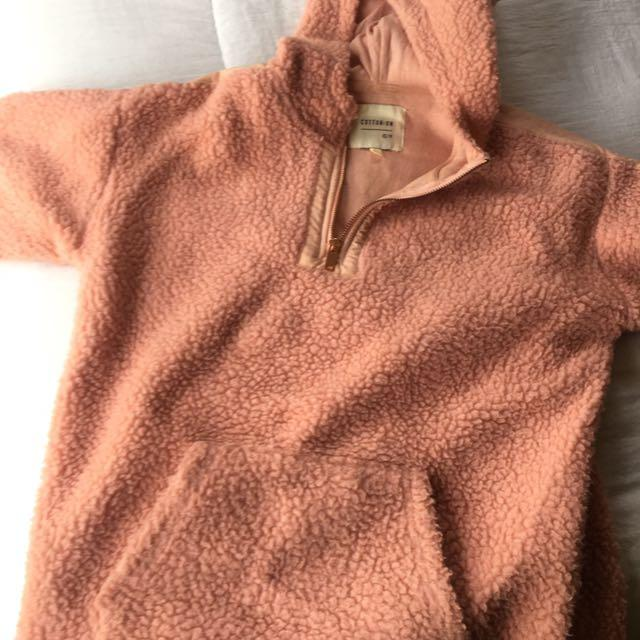 Blush teddy coat
