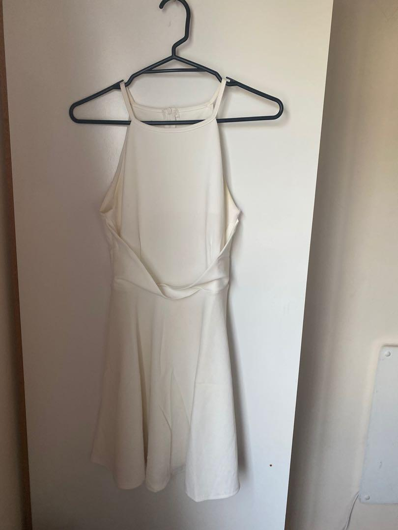 BRAND NEW Halter neck white dress