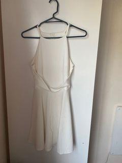 BRAND NEW Halter neck white dress