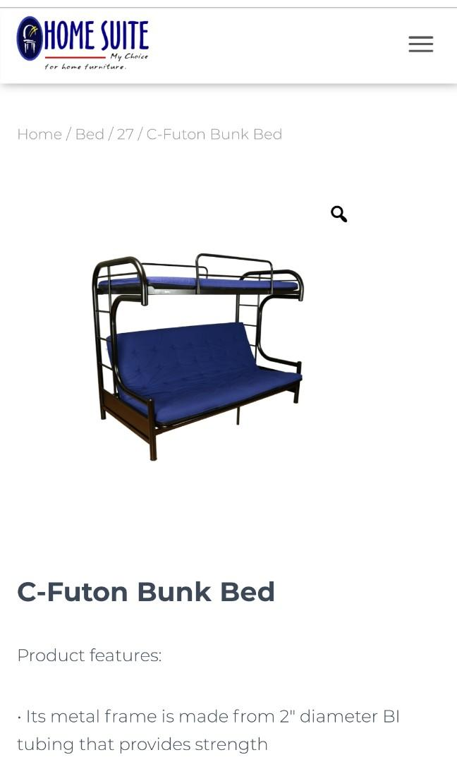 C Futon Double Deck Bunk Bed Sofa
