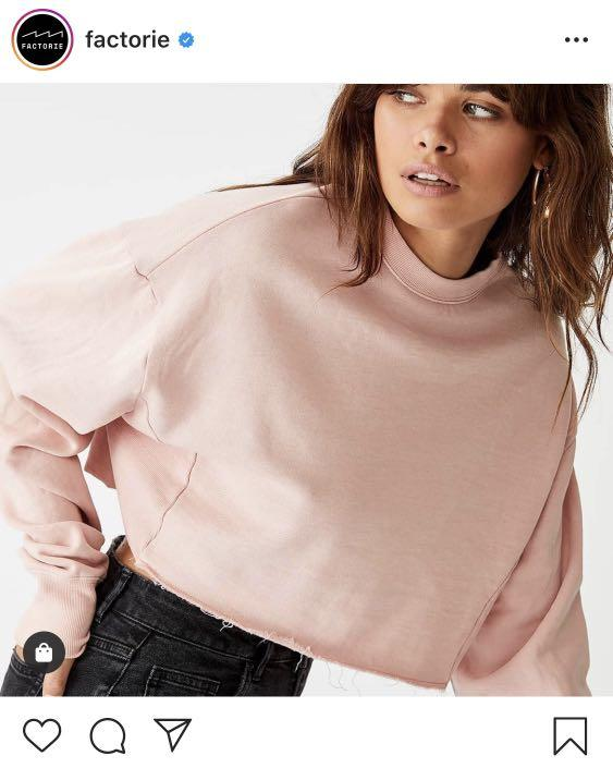 Crop Crew Neck Jumper