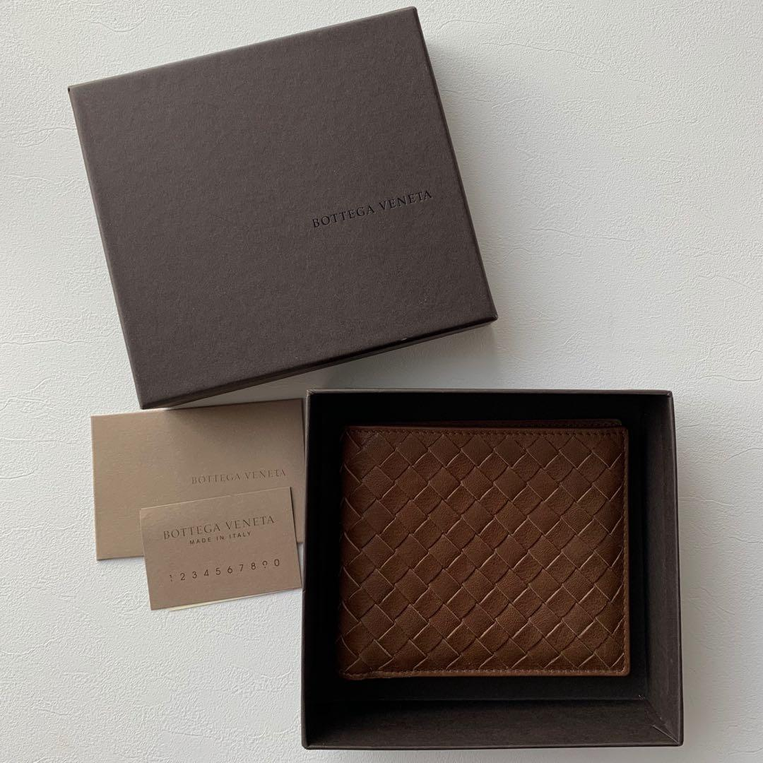 NIB Bottega Veneta brown leather men's wallet