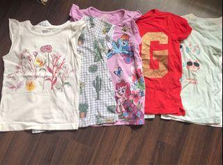 Tops, bottoms and dresses for a girl 4-6 yo