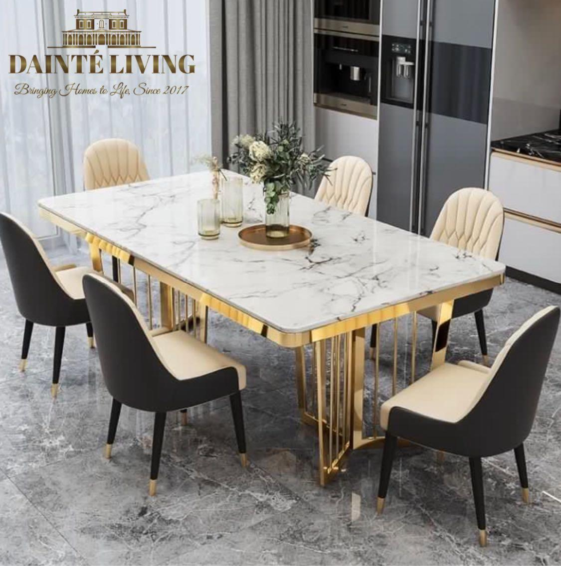 Chrome Luxury Modern Contemporary Dining Table Furniture Tables Chairs On Carousell