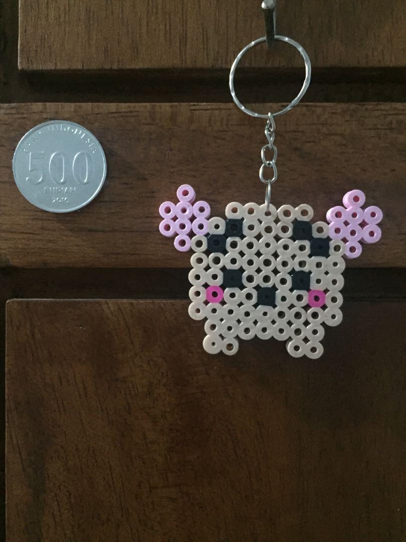 Gantungan Kunci Hama Beads 5mm - Roo Tsum Tsum