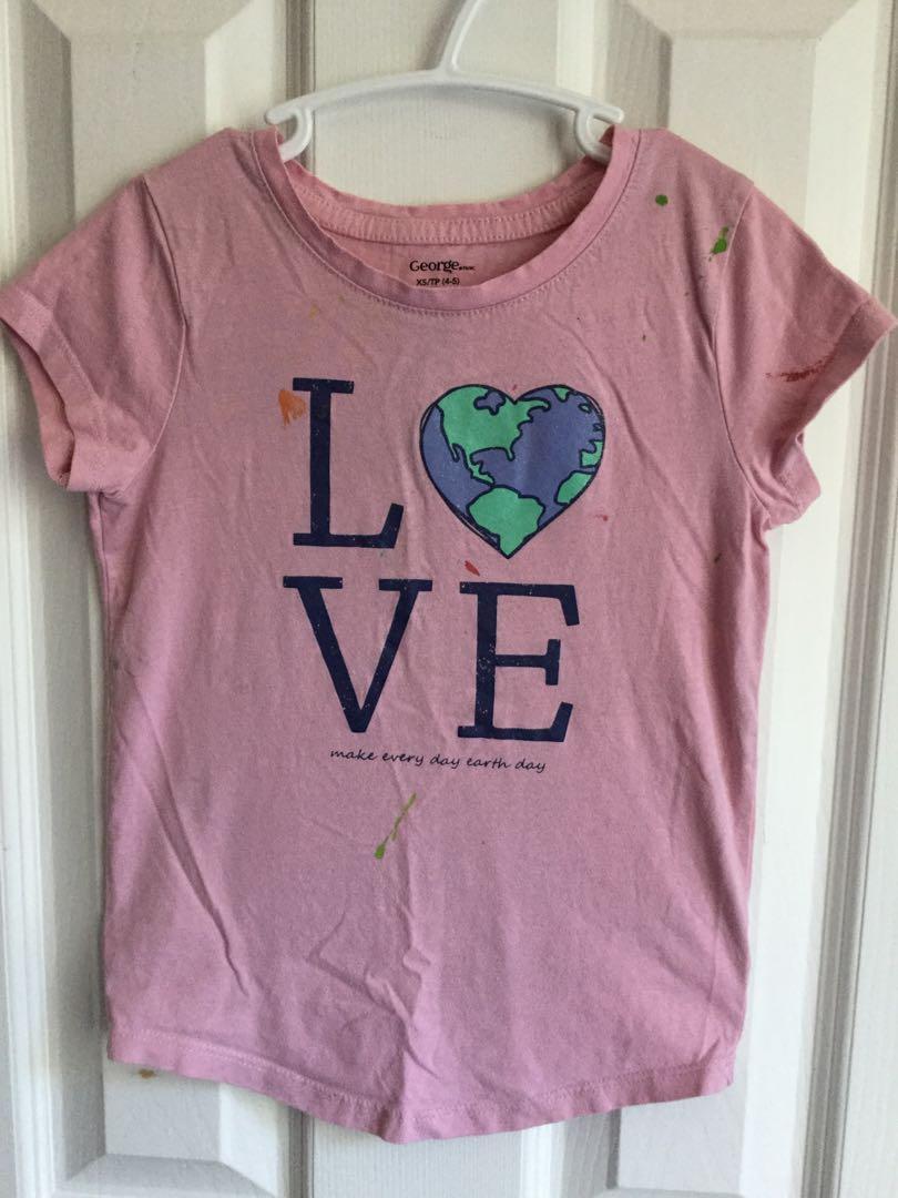 Girls tshirt size 4/5-$2