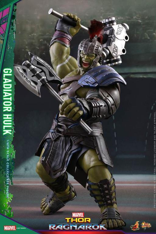 Hot Toys Gladiator Hulk Mms 430 Thor Ragnarok Toys Games Action Figures Collectibles On Carousell