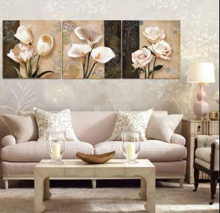 In stock - Florals Canvas Painting