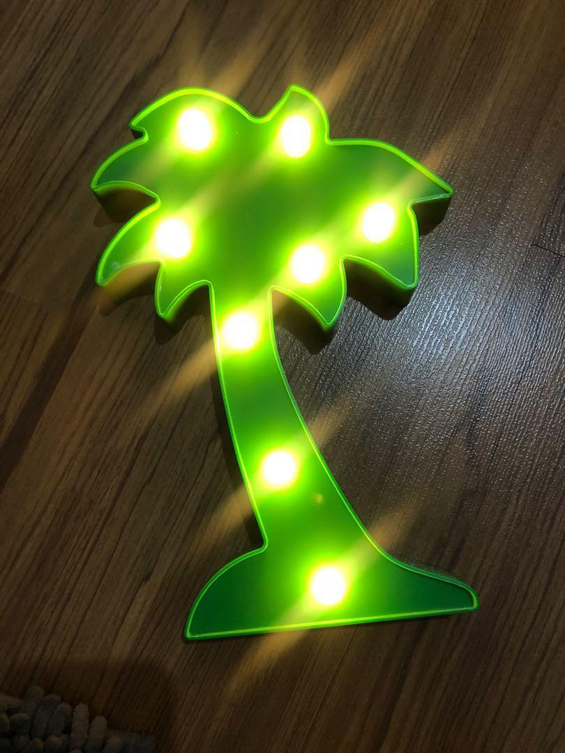 Lampu tidur tumblr pohon kelapa