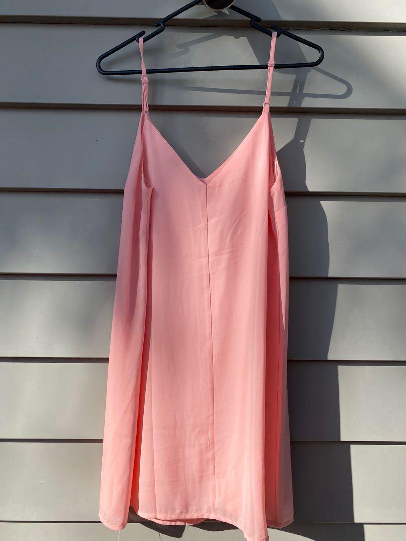 Little peach pink dress