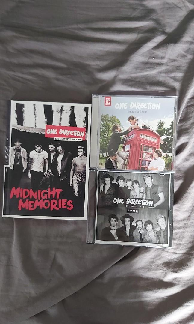 One Direction CDs/Albums (midnight memories the ultimate edition, take me home, four)